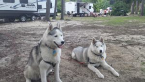 Secret and Fiona at Camp